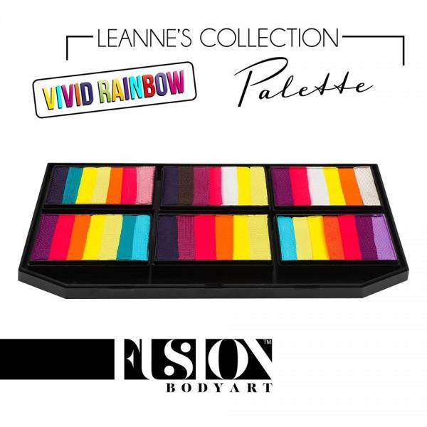 Fusion Body Art Leanne's Vivid Rainbow Petal Palette