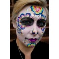 Rainbow Sugar Skull By Mazz Loxton
