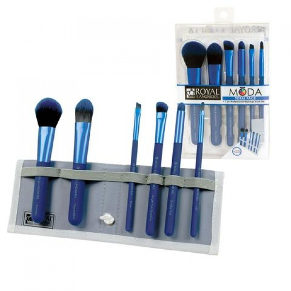 MODA® TOTAL FACE 7pc Blue Brush Kit