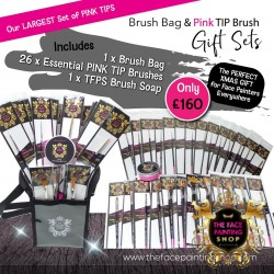 The Face Painting Shop Pink Tip Brush Set 3