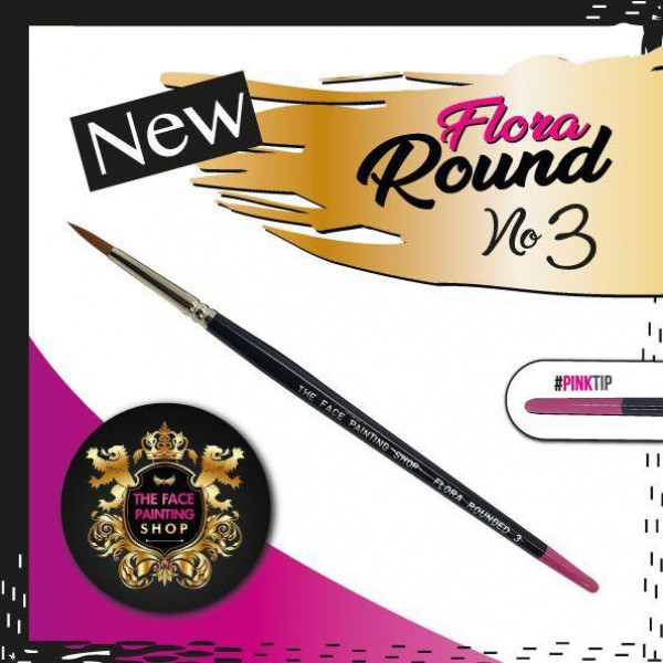 The Face Painting Shop Rounded Flora Brush Size 3