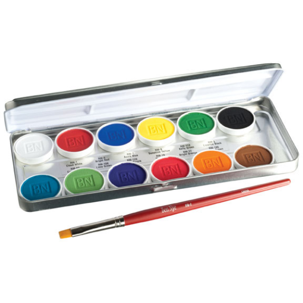 Ben Nye MagiCake 12 Colour Aqua Paint Palette