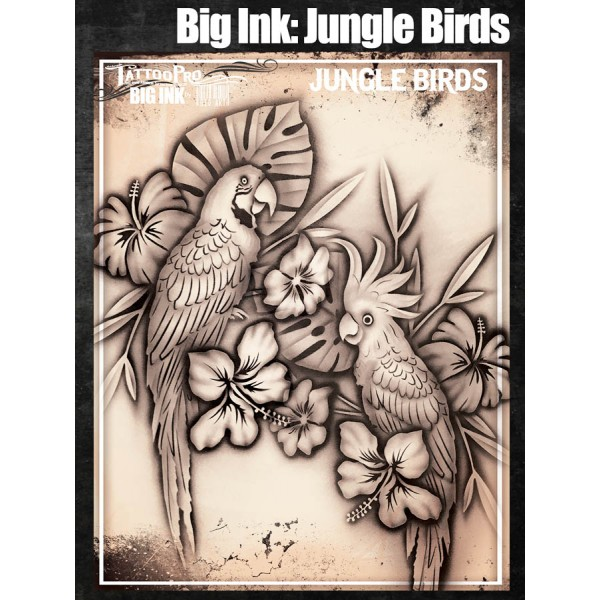 Airbrush Tattoo Pro BIG Jungle Birds