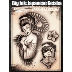 Airbrush Tattoo Pro BIG Japanese Geisha