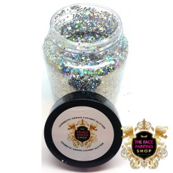 Chunky Glitter Pure Holo Silver 50g