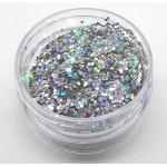 Chunky Glitter Pure Holo Silver