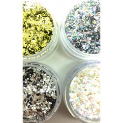 Set Of Four Chunky Glitters