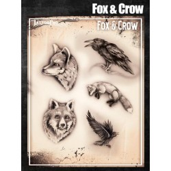 Airbrush Tattoo Pro Fox and Crow