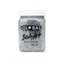 Global Body Art Silver Glitter Gel 200ml
