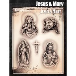 Airbrush Tattoo Pro Jesus And Mary