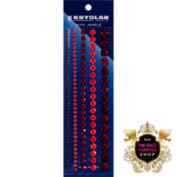 Kryolan Body Jewels Red