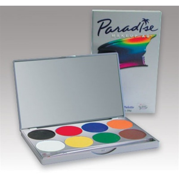 Mehron Paradise Make Up AQ 8 Colour Palette - Basic