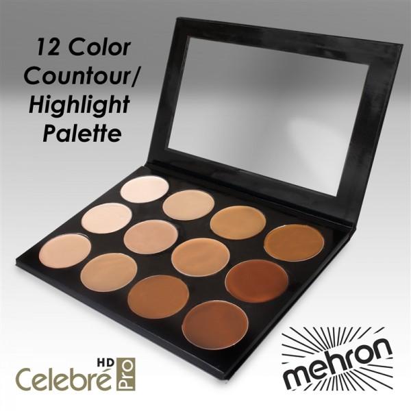 Mehron Pro HD Foundation Contour and Highlight Palette