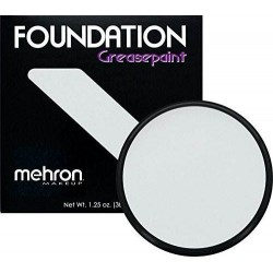Mehron Foundation Grease Paint Moonlight White