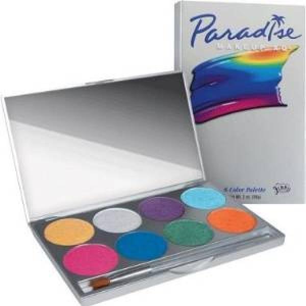 Mehron Paradise Make Up AQ 8 Colour Palette - Brilliant