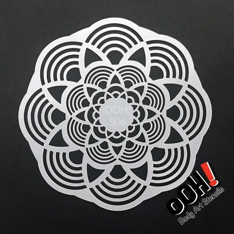 Ooh Body Art Stencil Sphere Mandala