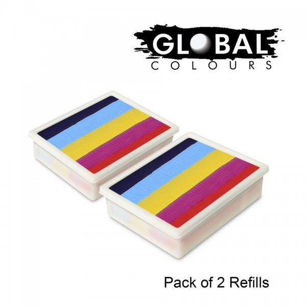 Global Colours Refill Pack of 2 Leannes Rainbow