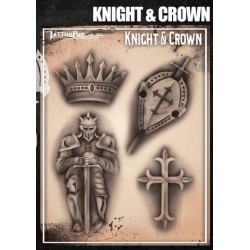 Airbrush Tattoo Pro Knights and Crown