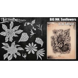 Airbrush  Tattoo Pro BIG Sunflowers