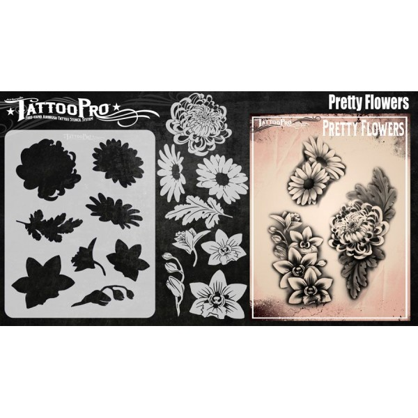 Airbrush  Tattoo Pro Pretty Flowers