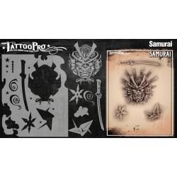 Airbrush Tattoo Pro Stencil Samurai