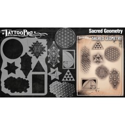 Airbrush Tattoo Pro Stencil Sacred Geometry