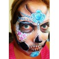 Charlotte Gardner - Skull Step by Step face painting design