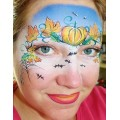 Charlotte Gardner - Pumpkin step by step face painting designs