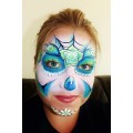 Charlotte Gardner Sugar Skull face painting design  Step by Step