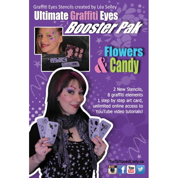 Graffiti Eyes Booster Pack Flowers and Candy