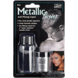 Mehron Metallic Powder Combo Pack Silver