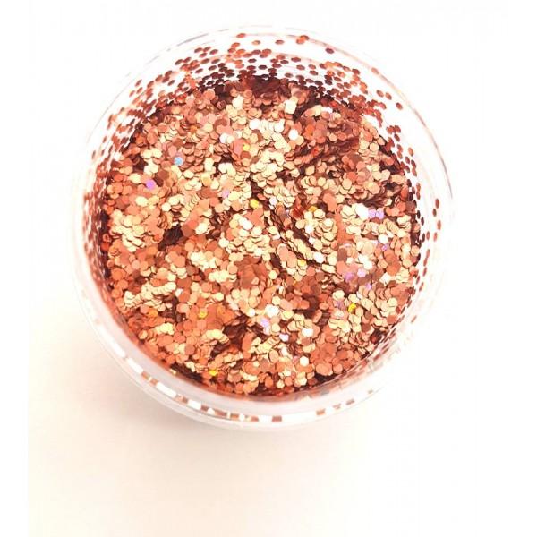 Chunky Glitter Peach