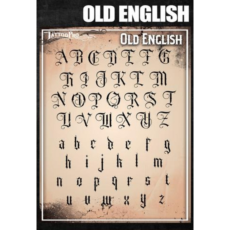 Airbrush Tattoo Pro Old English Font