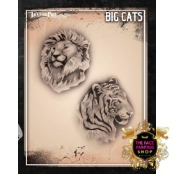 Airbrush Tattoo Pro Stencil Big Cats