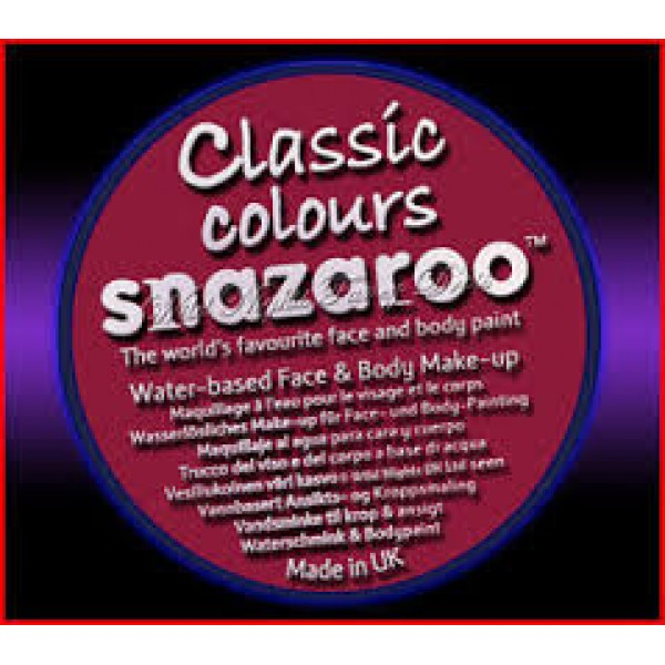 Snazaroo 18ml Burgundy