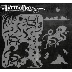 Airbrush Tattoo Pro Octopus Stencil