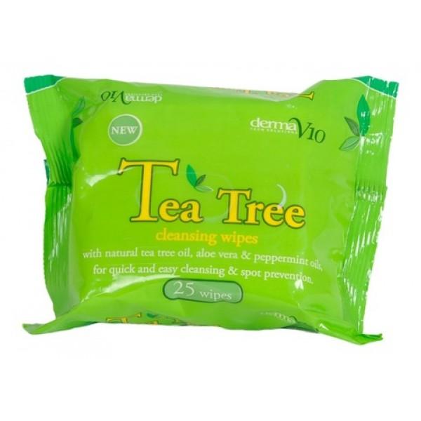V10 Tea Tree Cleansing Wipes 25
