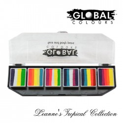 Global Body Art Leannes Tropical Palette