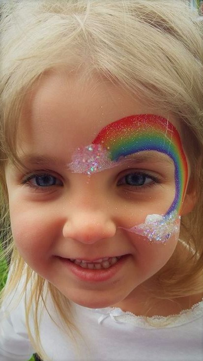 Rainbow Unicorn Face Painting Designs