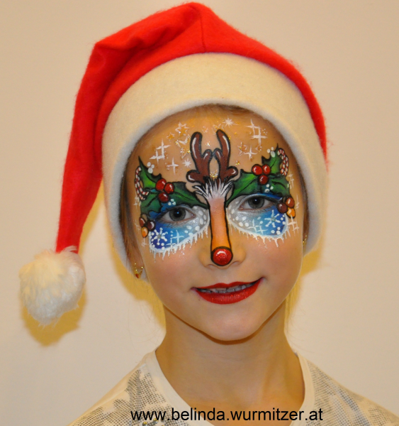 Christmas Face Paint.Christmas Face Painting Desings Competition